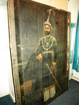 Portrait of Maharajah before treatment.