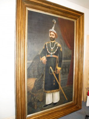 Portrait of Maharajah after conservation.